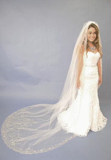 Astounding Elena Designs Wedding Veil Style E1122L