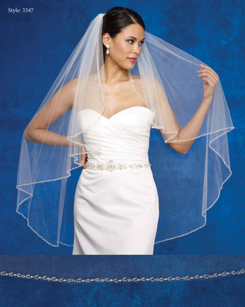 Marionat Bridal Veils 3347- The Bridal Veil Company - Angel Cut Beaded Edge