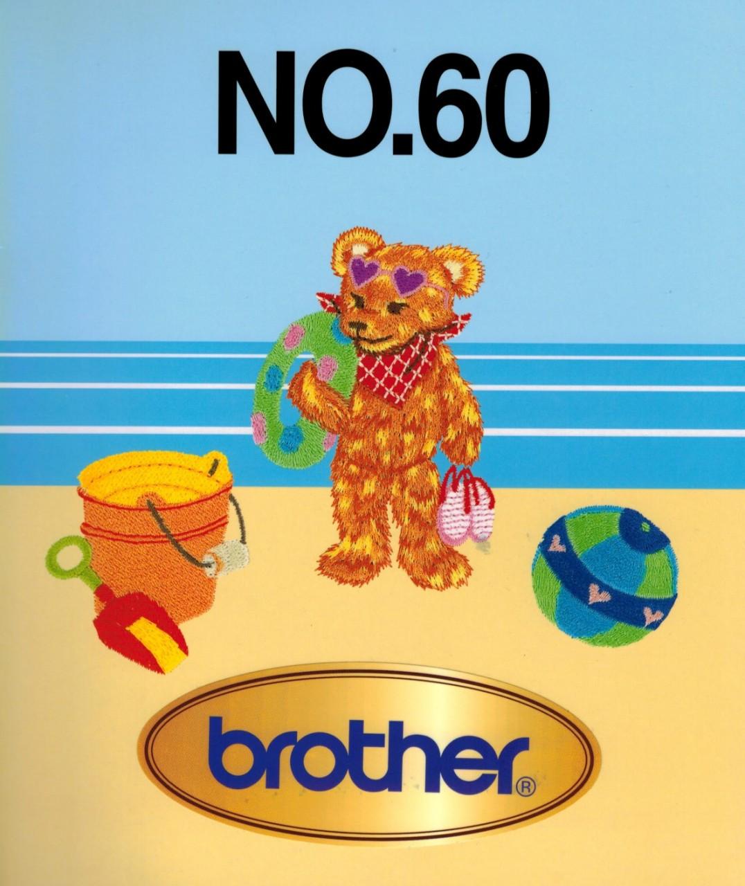 Brother Embroidery Memory Card No  60 Summer Fun - Brother