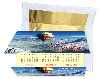C-Fold Holiday Calendar Card