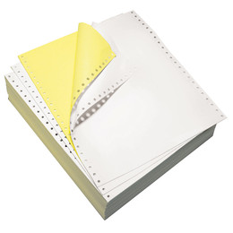 "9 1/2"" x 11"" 15# Blank Regular Perforation, 2-Part Carbonless, Continuous Computer Paper, 1700/3400 sheets, 91192"