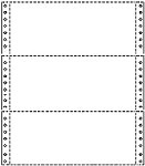 "9 1/2"" x 3 2/3"" 20# Blank, Standard Perforation, Continuous Computer Paper, 8000 sheets, 91826"