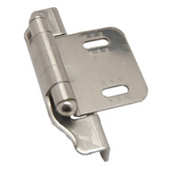 "LIBERTY Satin Nickel 1/4"" Semi-Wrap Cabinet Hinge H01911C-SN-O (pair)"