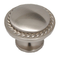 "AMEROCK Allison Satin Nickel 1-1/8"" Rope Ribbed Knob BP53001-G10"