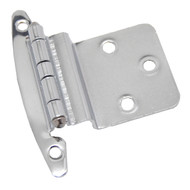 "LIBERTY Polished Chrome 3/8"" Offset Inset Non-Spring Cabinet Hinge H00930C-CHR-O3 (pair)"