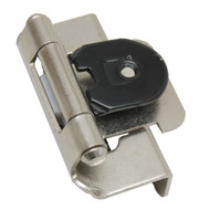"AMEROCK Satin Nickel 1/2"" Semi-Wrap Double Demountable Steel Cabinet Hinge CMR8704G10 (pair)"