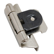 "AMEROCK Satin Nickel 1/4"" Semi-Wrap Double Demountable Steel Cabinet Hinge CMR8701G10 (pair)"