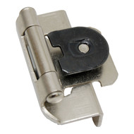 "AMEROCK Satin Nickel 1/2"" Semi-Wrap Single Demountable Steel Cabinet Hinge CMR8719G10 (pair)"