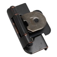 "AMEROCK Oil Rubbed Bronze 1/2"" Semi-Wrap Double Demountable Steel Cabinet Hinge CMR8704ORB (pair)"