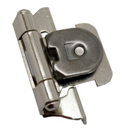 "AMEROCK Nickel 1/4"" Semi-Wrap Single Demountable Steel Cabinet Hinge CMR871514 (pair)"