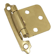 CDK Polished Brass Variable Flush Overlay Cabinet Hinge H-0213-PB-G4 (pair)
