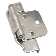 "LIBERTY Satin Nickel 1/2"" Semi-Wrap Cabinet Hinge H01915C-SN-O (pair)"