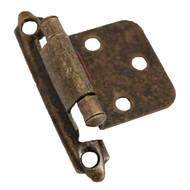 CDK Antique Brass Variable Flush Overlay Cabinet Hinge H-0213-AB-C4 (pair)
