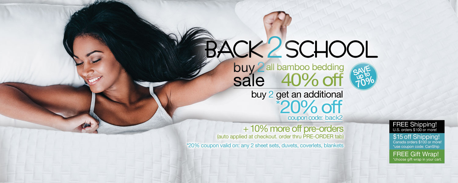 Back 2 School Buy 2 Sale!  bamboo coverlets up to 70% off