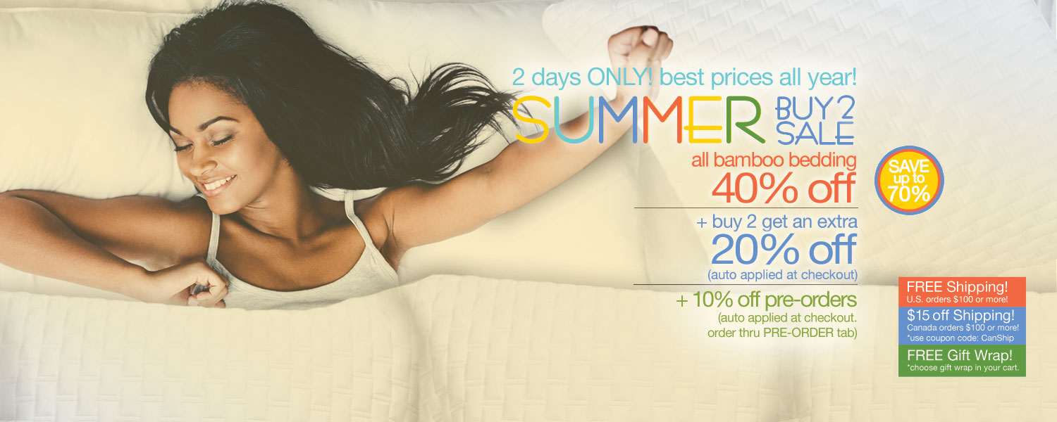 Summer Buy 2 Sale!  bamboo bedding up to 70% off