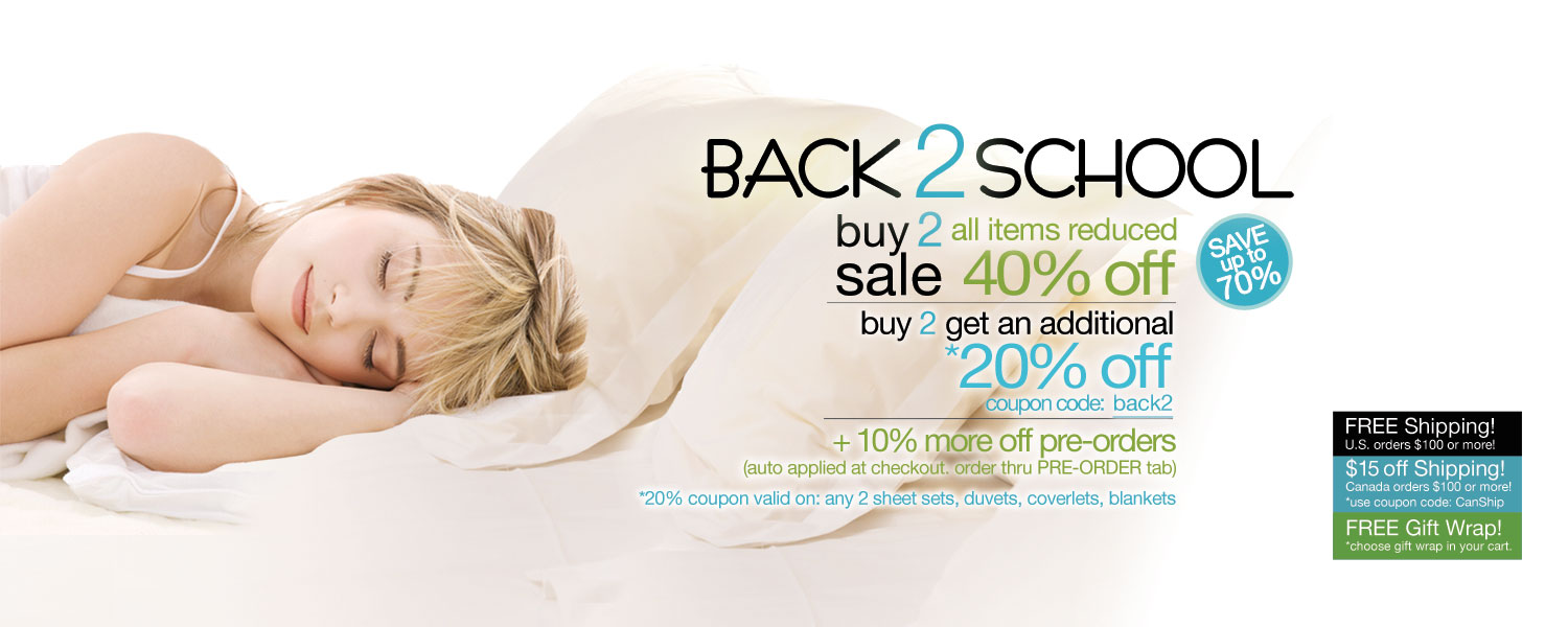 Back 2 School Buy 2 Sale!  bamboo bed & bath up to 70% off