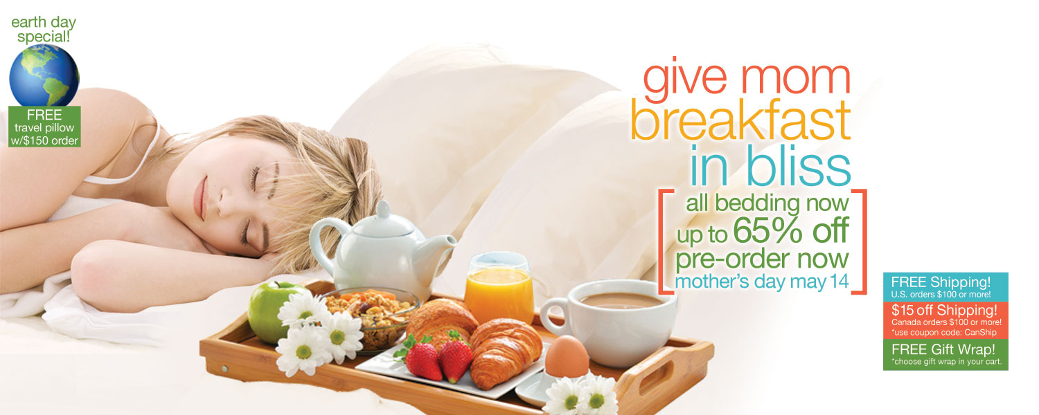 give mom breakfast in bliss bamboo bedding SALE! up to 65% off