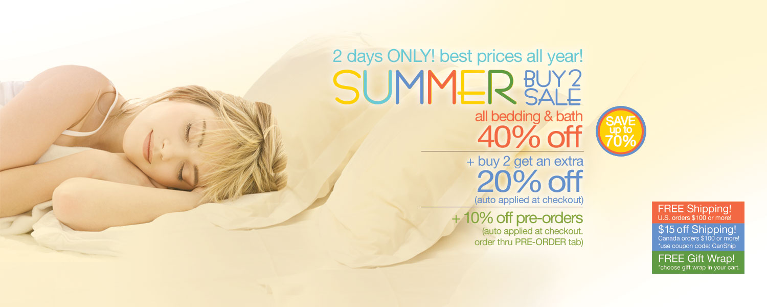 Summer Buy 2 Sale!  bamboo bed & bath up to 70% off