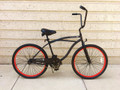 "26"" PORTOFINO BEACH CRUISER SINGLE SPEED MEN'S MBK/RED"