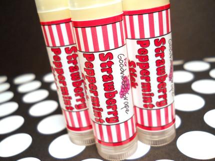 Strawberry Peppermint Stick Lip Balm