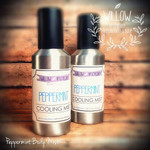 Peppermint Cooling Body Mist 4 oz Spray Bottle with Flat Rate Shipping