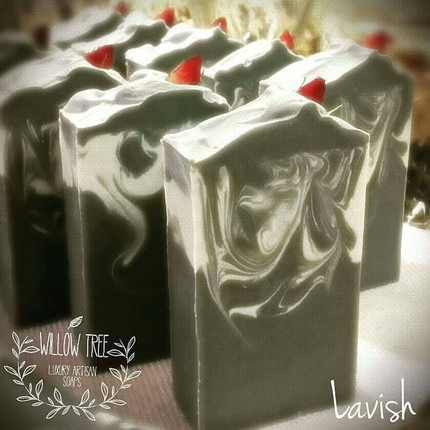 Lavish Spa Luxury Artisan Soap - All Natural with Activated Charcoal & Essential Oils