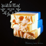 Pic Shows a Full Sized Bar | This listing is for 1/3 of 1 Bar of Blueberry Lemon Verbena Luxury Artisan Soap | Sorry no pic available