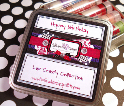 Happy Birthday Lip Balm Collection with Tin and 5 Lip Balms