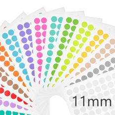 Cryogenic color dots - 11mm diameter  #LT-11A multi-color
