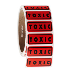 TOXIC Symbol Labels - 45 x 19mm #WL-001