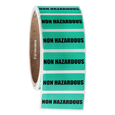 NON HAZARDOUS Symbol Labels - 45 x 19mm #WL-002