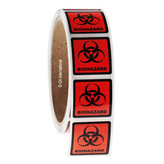 BIOHAZARD Symbol Labels - 29 x 29mm #WL-003