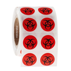 BIOHAZARD Symbol Labels - 13mm #WL-012