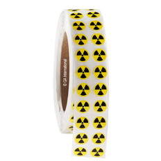 RADIOACTIVE Symbol Labels - 13mm #WL-013