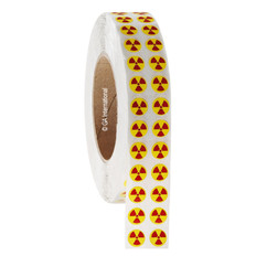 RADIOACTIVE Symbol Labels - 13mm #WL-014