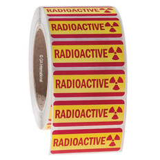 RADIOACTIVE Symbol Labels Removable - 69 x 25.4mm  #L-004