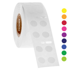 DYMO-Compatible Cryogenic Labels - 9mm circle #ED1F/EF1F-030 Colors