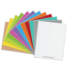 Cryogenic Laser Labels (Letter Format) - 32.5 x 12.7mm #CL-23 multi-colors