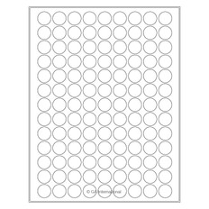 Laser & Inkjet Removable Paper Labels - 19.1mm circle #RLZP-51 white