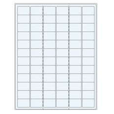 Transparent Removable Cryo Laser Labels (US Letter Size) - 32 x 22.1mm #TRCL-9