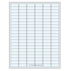 Transparent Removable Cryo Laser Labels (US Letter Size) - 32.5 x 12.7mm #TRCL-23