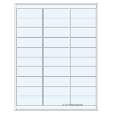 Transparent Removable Cryo Laser Labels (US Letter Size) - 66.7 x 25.4mm #TRCL-3