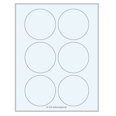 Transparent Removable Cryo Laser Labels (US Letter Size) - 79.375mm #TRCL-53