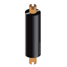 Zebra Thermal Transfer Resin Ribbon - 84mm x 74m #RR84X74C0.5-1ZZ4