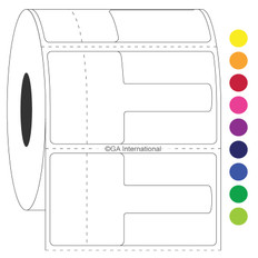"Optical frame and jewelry direct thermal labels - 2.24"" x 1.25"" #DTOL-2"