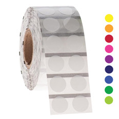 Paper Labels for Thermal Transfer - 12.7mm circle  #GPA-53BM