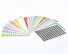 Color Dots Paper Pabels Permanent -  9mm  #SSLPP-9