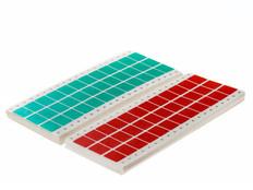 Dot matrix pin fed paper labels  permanent fanfold - 23.8 x 19mm #EDP-01P
