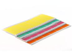 Dot matrix pin fed paper labels permanent fanfold - 102 x 49.21mm #EDP-402
