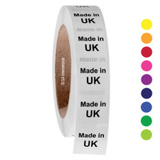 """Made in UK"" labels - 25.4 x 25.4mm  # ABA-1039-3"